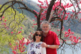 Judy and Richard near the artificial lake created by the construction of the Miboro Dam