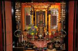 Shrine in the Gassho style house of the Nagase Family - in the Gassho-zukuri Village in Shirakawa-go