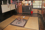 Cooking area and hearth in the Gassho style house of the Nagase Family - Gassho-zukuri Village in Shirakawa-go