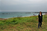 Judy at the Sea of Japan: Beyond the horizon: Russia to the north - North Korea to the northwest - South Korea to the west