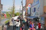Morning Market  next to the Miyagawa River in Takayama