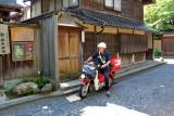 A postal carrier in Naga-machi Samurai District in Kanazawa