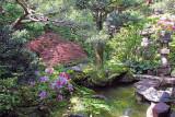 Exquisitely detailed garden of the Nomura Family Samurai House in the Naga-machi Samurai District - Kanazawa