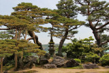 The Hill of the Seven Gods of Good Fortune (Shichi-fukujin-yama) in the Kenroku-en Garden  - Kanazawa