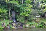 The Midori-taki Waterfall at the Hisago-ike Pond in the Kenroku-en Garden - Kanazawa