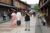 John was photographing Richard who was photographing him. Boys will be boys! In the Higashi Chaya (Geisha) District of Kanazawa