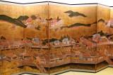 Rakuchu Rakugai Byobu - gold leaf was used to create this folding screen - seen at the Kanazawa Yasue Gold Leaf Museum