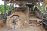The traditional Noborigama (inclined slope) kiln at the Kutani Pottery Village in Nomi-shi