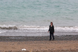 Judy at the Sea of Japan: Russia is to the north. North Korea is to the northwest. South Korea is to the west
