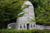Kutani Big Plate Monument at the Kutani Pottery Village in Nomi-shi