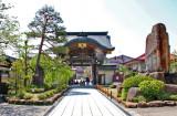 The gate for the Takayama Betsuin Shorenji Temple in Takayama