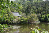 The Bentenjima Islet in the Kyoyochi Pond at the Ryoanji Temple in Kyoto