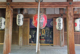 The front of the relatively small Fudodo Shrine at the Golden Pavilion complex (Rokuon-ji) in Kyoto