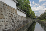 Outer wall and outer moat of the Nijo Castle in Kyoto