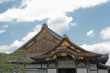 Elegant structures emphasizing prestige and authority - over the entrance to Ninomaru Palace - in Nijo Castle in Kyoto