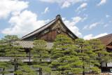Top of entrance to Ninomaru Palace in Nijo Castle in Kyoto