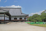 Side view of Ninomaru Palace in Nijo Castle in Kyoto. Palace is made of cypress.