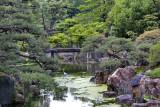 Egret in Ninomaru Garden - a traditional Japanese landscape garden in Nijo Castle in Kyoto