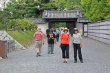 Judy and Sallie leaving Ninomaru Palace and Garden complex of Nijo Castle in Kyoto