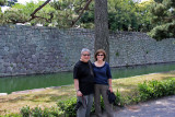 Sharon and John: Background - inner moat & inner wall surrounding Honmaru in Nijo Castle in Kyoto
