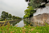 Outer wall and outer moat of Nijo Castle in Kyoto