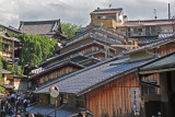Roofs - traditional buildings on Ninen-zaka and Sannen- zaka (contiguous streets) in Kyoto