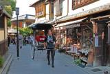 Rickshaw on traditional Ninen-zaka and Sannen- zaka (contiguous streets) in Kyoto