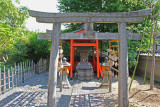 Small torii (gate) and small shrine (??) seen while walking to a tea ceremony at the Kodaiji Temple in Kyoto