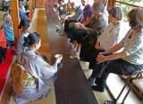 Judy and others at a tea ceremony at the Kodaiji Temple complex in Kyoto