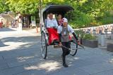 Rickshaw on Nene no Michi Lane - seen while walking from Kodaiji Temple to traditional Ninen-zaka & Sannen-zaka area