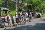 Rickshaw stand on Nene no Michi Lane -  seen while walking from Kodaiji Temple to traditional Ninen-zaka & Sannen-zaka area
