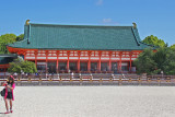 Daigoku-den (Outer Sanctuary) (Great Hall of State) at the Heian-jingu Shrine in Kyoto