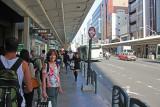 Judy shopping on Kawaramachi-dori in downtown Kyoto (early morning)