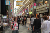 Judy - mid-day at the busy Teramachi Shopping Arcade in downtown Kyoto