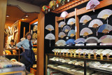 Judy in a fan store at the Teramachi Shopping Arcade in downtown Kyoto