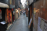 Pontocho Alley next to the Kamo River in Kyoto - one of the most atmospheric streets we saw in Japan