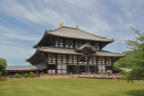 Todai-ji Temple's Main Hall, Daibutsuden (Great  Buddha Hall) - the largest wooden structure in the world - in Nara Park, Nara
