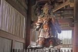Statue of Komokuten (at least 30 feet tall) in the Main Hall of Todai-ji Temple in Nara Park in Nara
