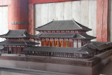 Model of the original Todai-ji Temple from 752 c.e. at 1 to 50 scale - massive pagodas on either side are not seen in this photo