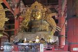 Statue of Nyoirin Kannon (at least 30 feet tall) in the Main Hall of Todai-ji Temple in Nara Park in Nara
