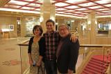 Sharon, John and Logan just before going to our last dinner in Japan at Ganko Takasegawa Nijoen (restaurant) in Kyoto