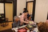 Linda and Ruth at Ganko Takasegawa Nijoen (restaurant) in Kyoto