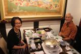 Virginia and Roland at Ganko Takasegawa Nijoen (restaurant) in Kyoto