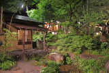 Traditional, strolling Japanese garden at Ganko Takasegawa Nijoen (restaurant) in Kyoto