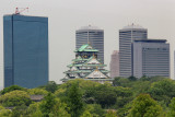 Osaka Castle in Osaka - seen while traveling from Kyoto to Kansai International Airport in Osaka for our flight home