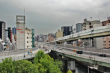 Highways in Osaka - seen while traveling from Kyoto to Kansai International Airport in Osaka  for our flight home