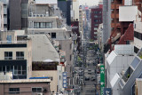 Street in downtown Osaka - seen while traveling from Kyoto to Kansai International Airport in Osaka for our flight home