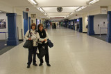 Judy and Sharon arriving at Cleveland Hopkins Airport around 12:00 a.m.