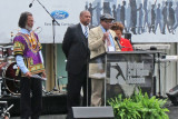 Bobby Seale co-founder of the Black Panther Party at the reopening of the National Civil Rights Museum at the Lorraine Motel