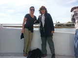 Aaren and Judy aboard the boat for Captain Mike's Dolphin Excursion - Tybee Island